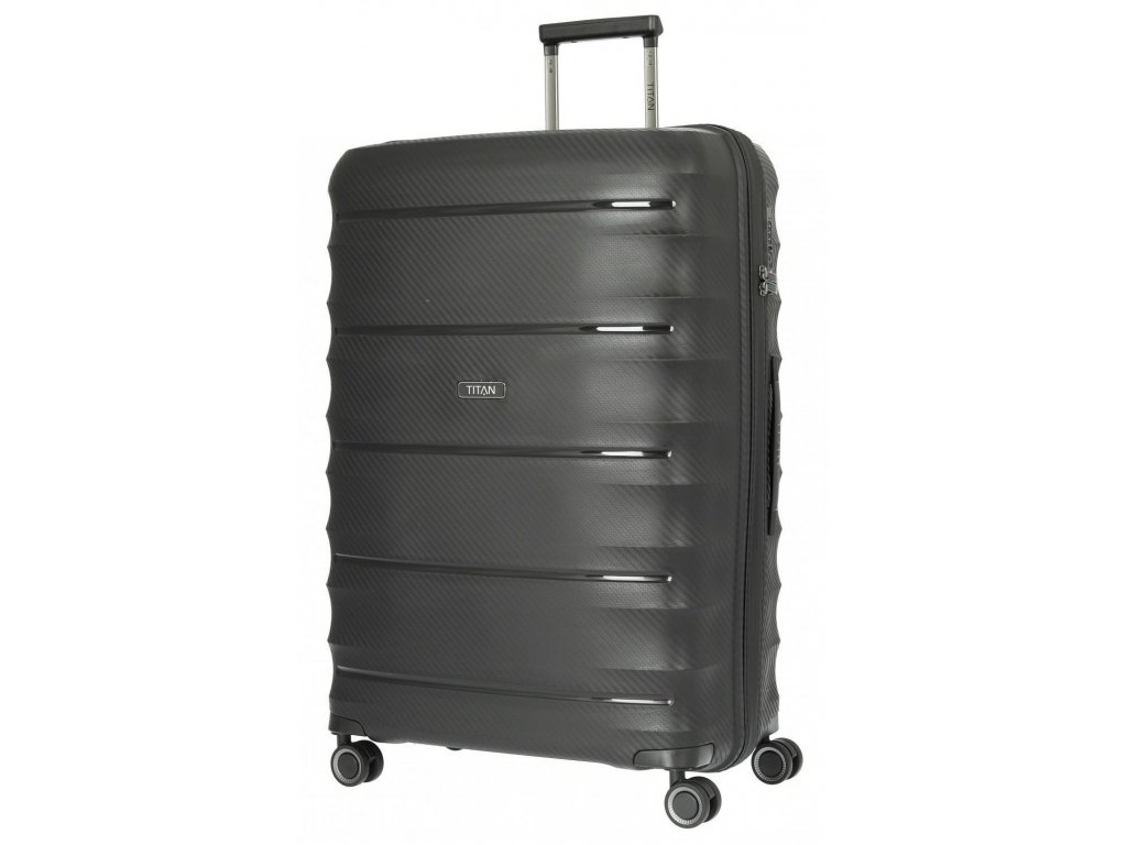 169510 4 cestovni kufr titan highlight 4w l black
