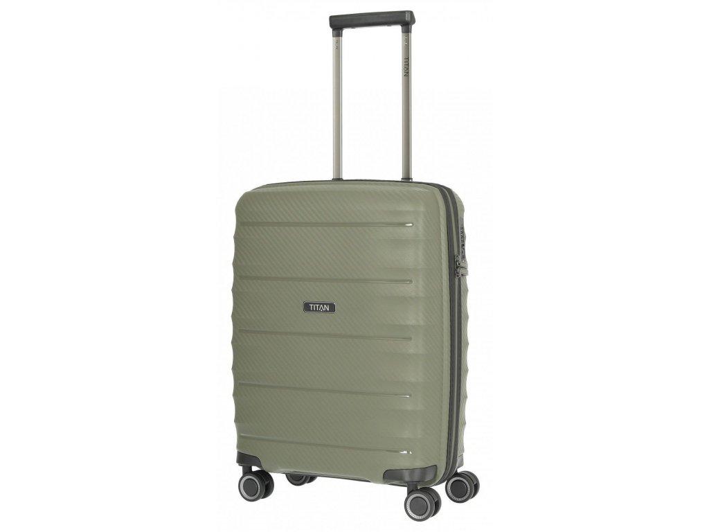 169534 4 cestovni kufr titan highlight 4w s khaki