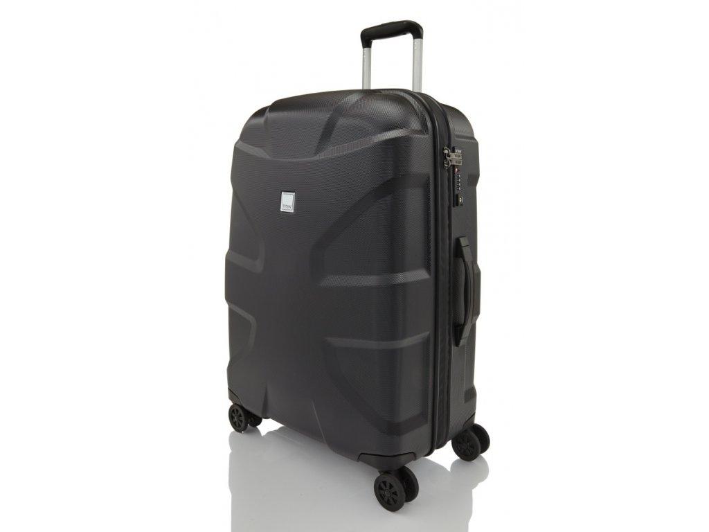 169570 6 cestovni kufr titan shark skin 4w m black