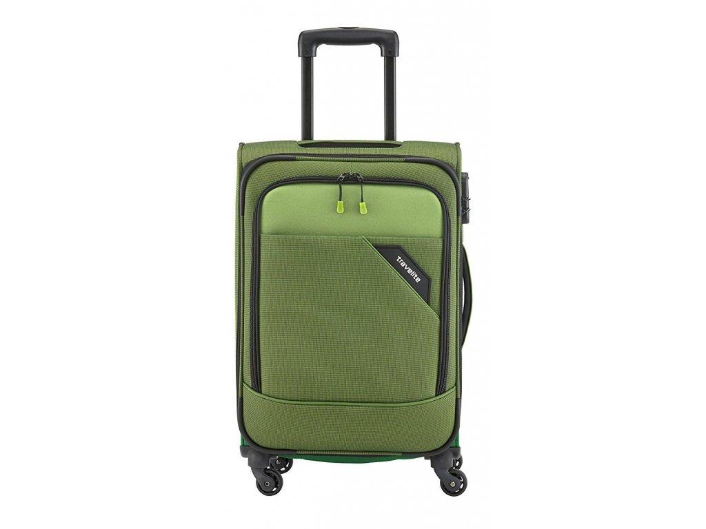 167305 5 cestovni kufr travelite derby 4w m green