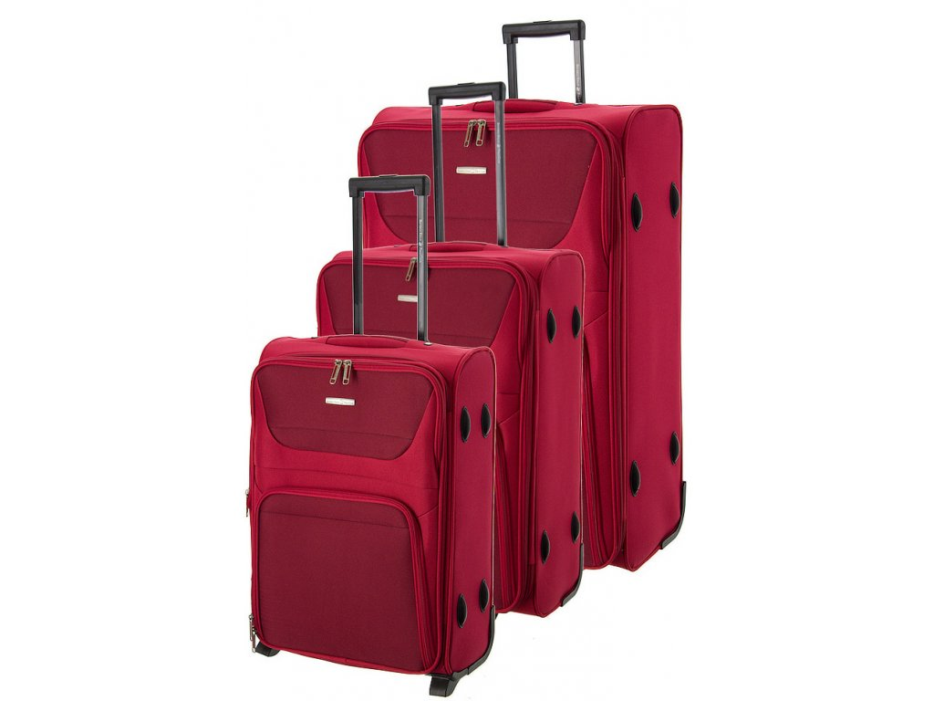 170692 1 cestovni kufry set 3ks bhpc travel s m l red