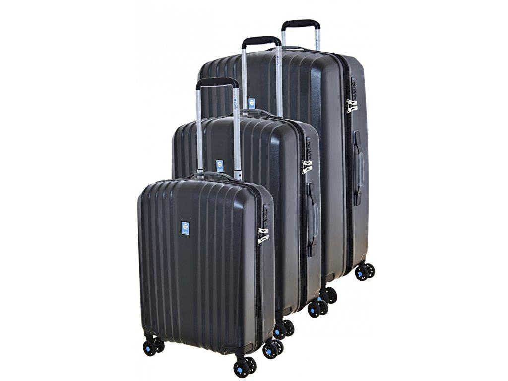 170710 1 cestovni kufry set 3ks dielle s m l black