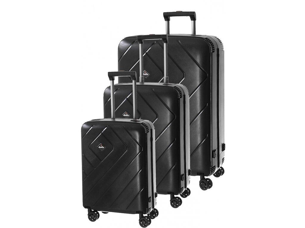 170767 1 cestovni kufry set 3ks dielle s m l black