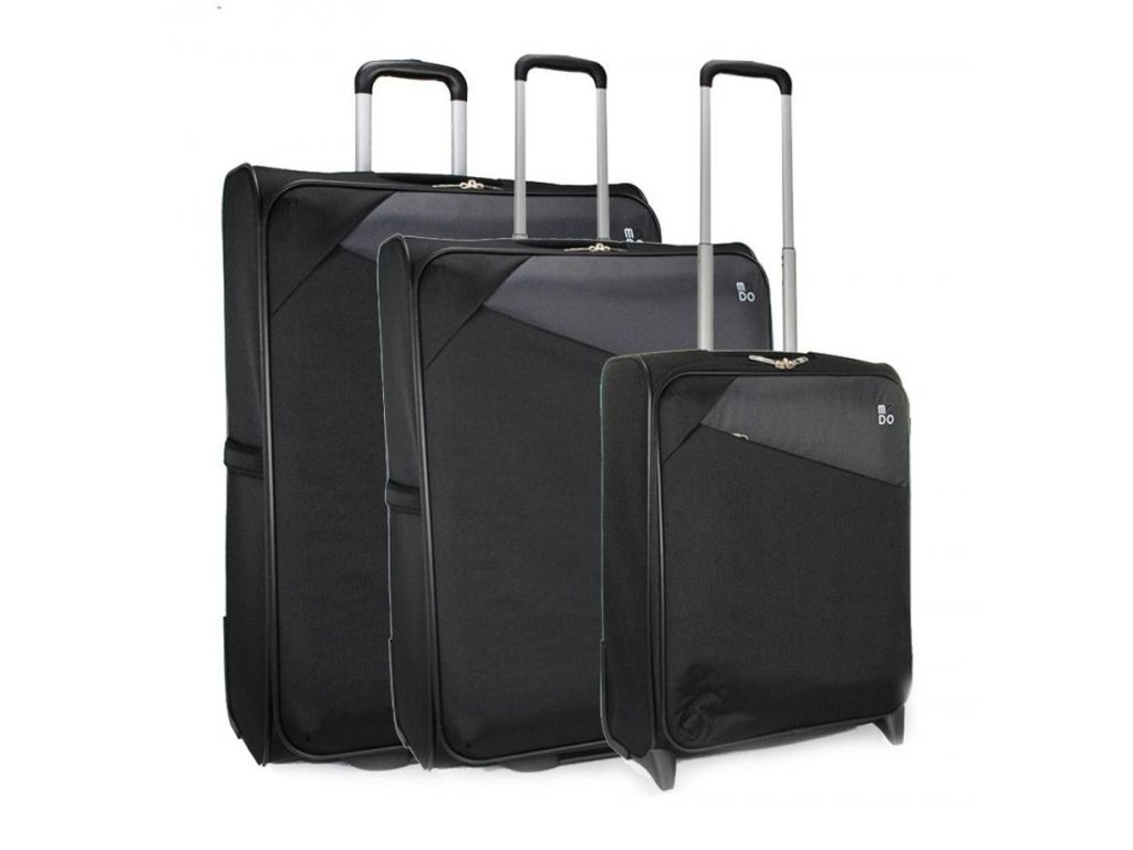 170818 1 cestovni kufry set 3ks modo jupiter s m l black