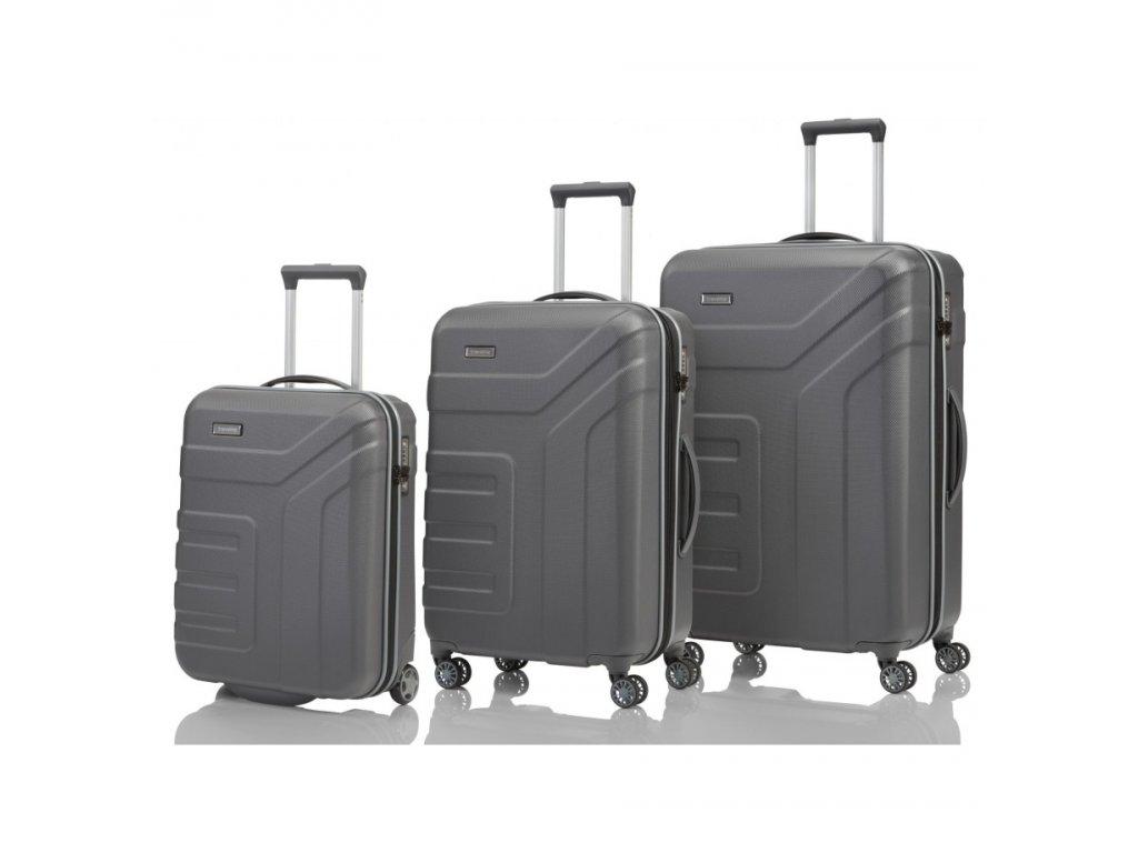 170848 1 cestovni kufry set 3ks travelite vector s m l anthracite