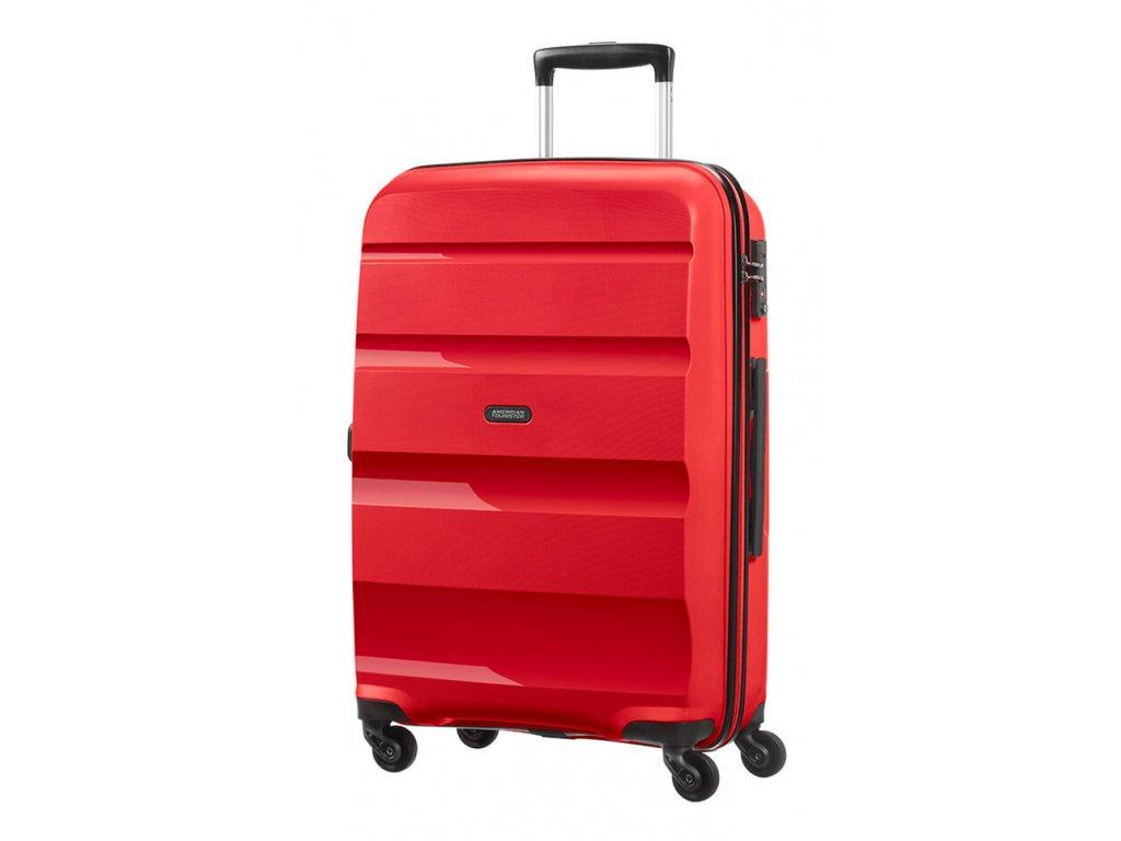 174952 10 cestovni kufr american tourister bon air 4w m cervena