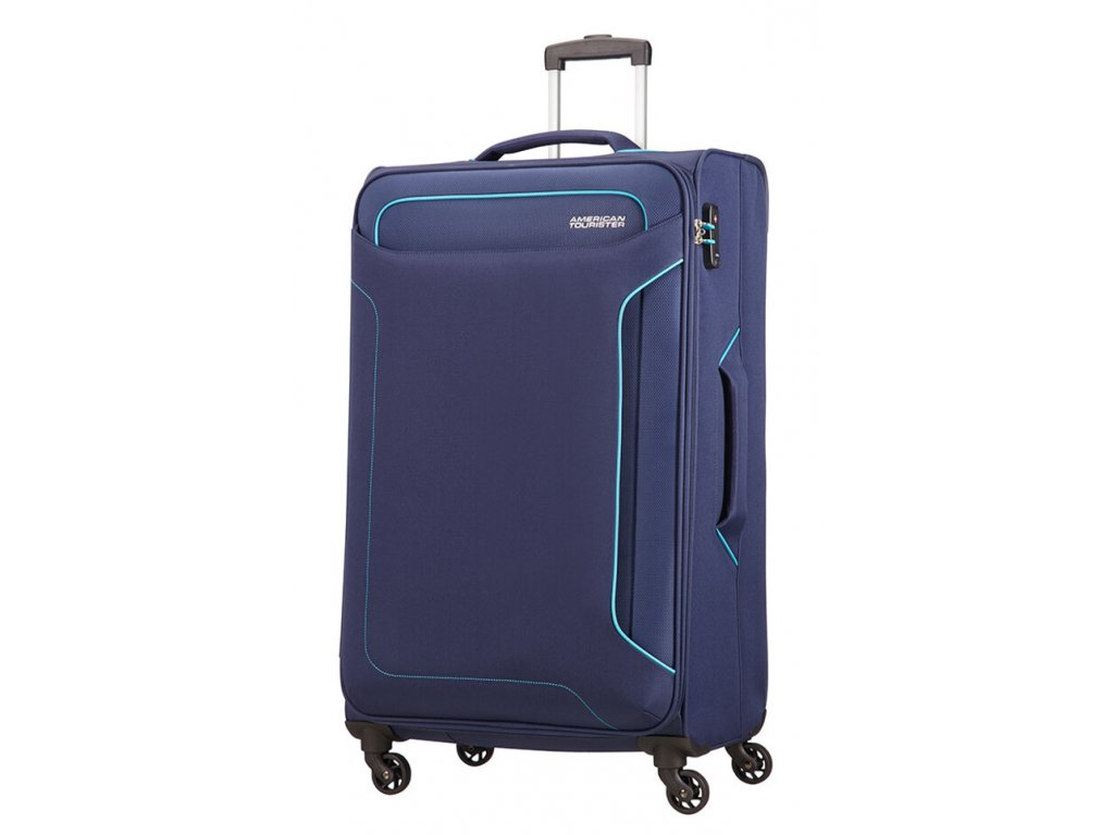 174982 7 cestovni kufr american tourister holiday heat 4w l modra