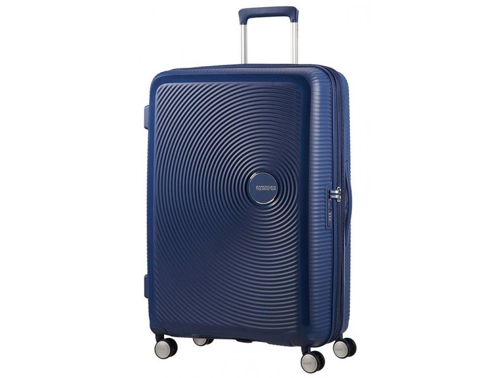 174970 9 cestovni kufr american tourister sound box l exp modra