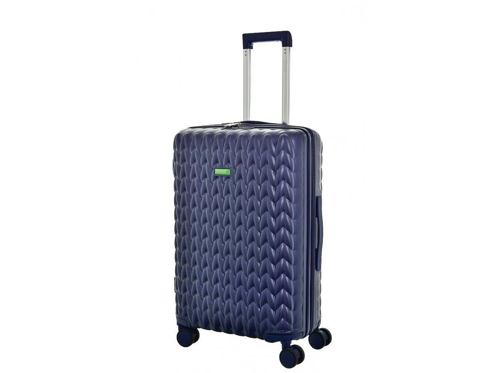 173485 7 cestovni kufr benetton knit 4w m tmave modra
