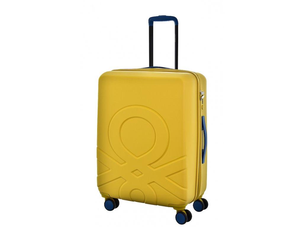 173548 6 cestovni kufr benetton ultra logo m zluta