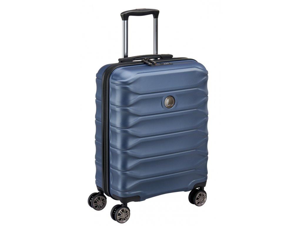 174178 5 cestovni kufr delsey meteor 4w 55 modra