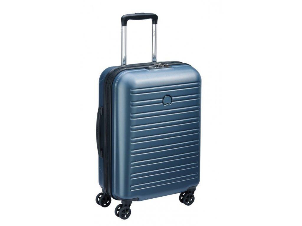 170614 7 cestovni kufr delsey segur slim 55 blue