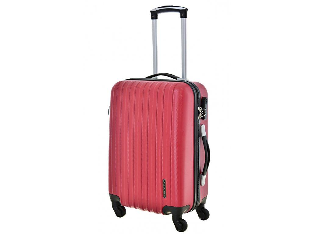 167833 4 cestovni kufr madisson 4w s red