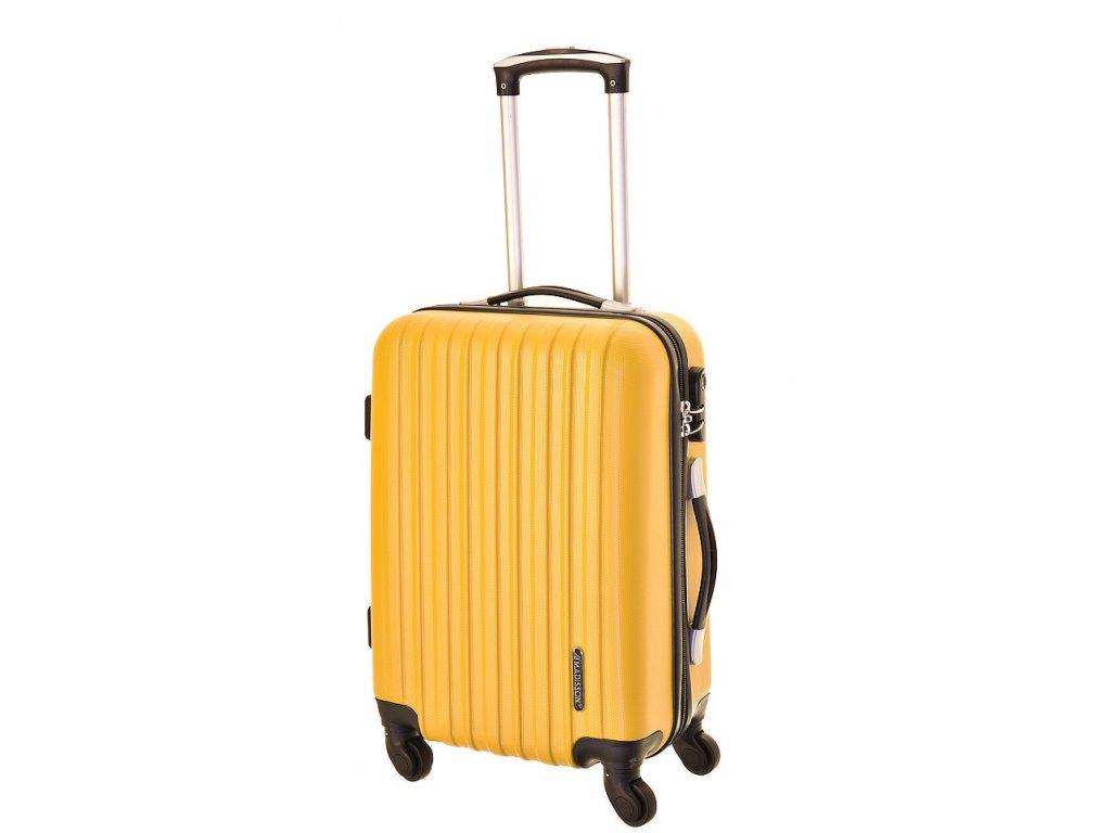 167941 6 cestovni kufr madisson 4w s yellow