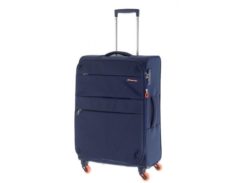 186394 cestovni kufr march elle m navy blue