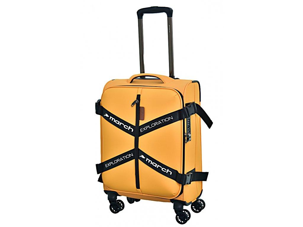 173050 8 cestovni kufr march exploration s zluta