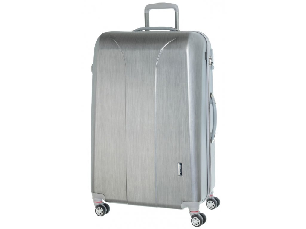 177970 cestovni kufr march new carat l silver brushed