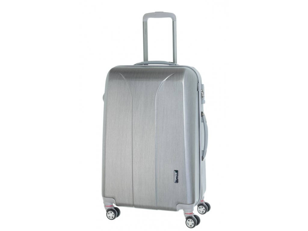 177961 cestovni kufr march new carat m silver brushed
