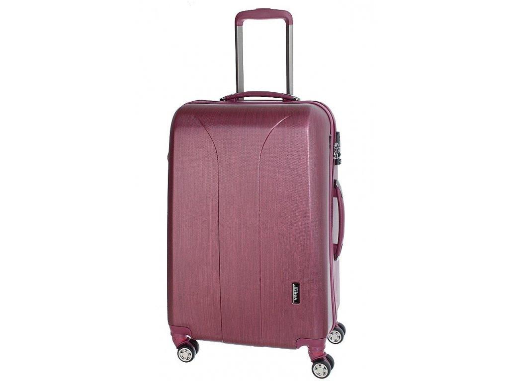 163744 6 cestovni kufr march new carat m burgundi brushed