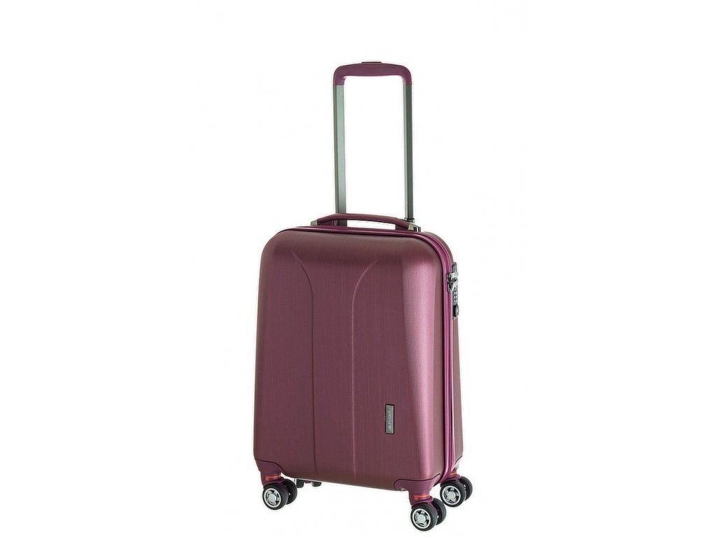 163738 4 cestovni kufr march new carat s burgundi brushed