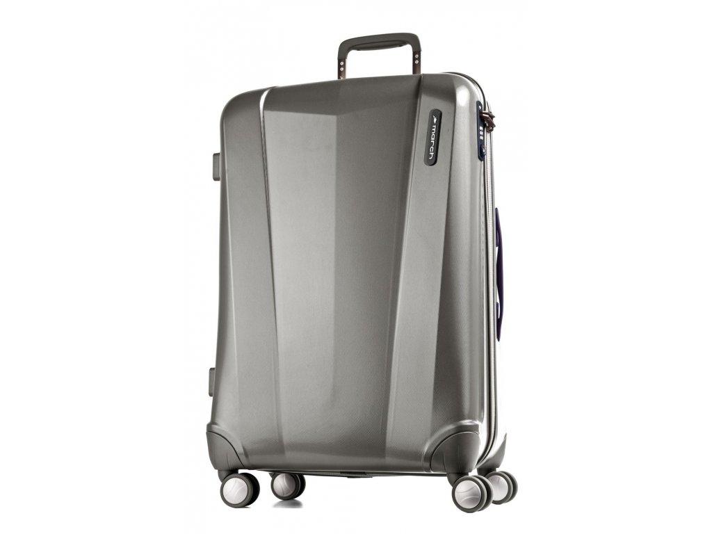 188218 cestovni kufr march vision m metal grey