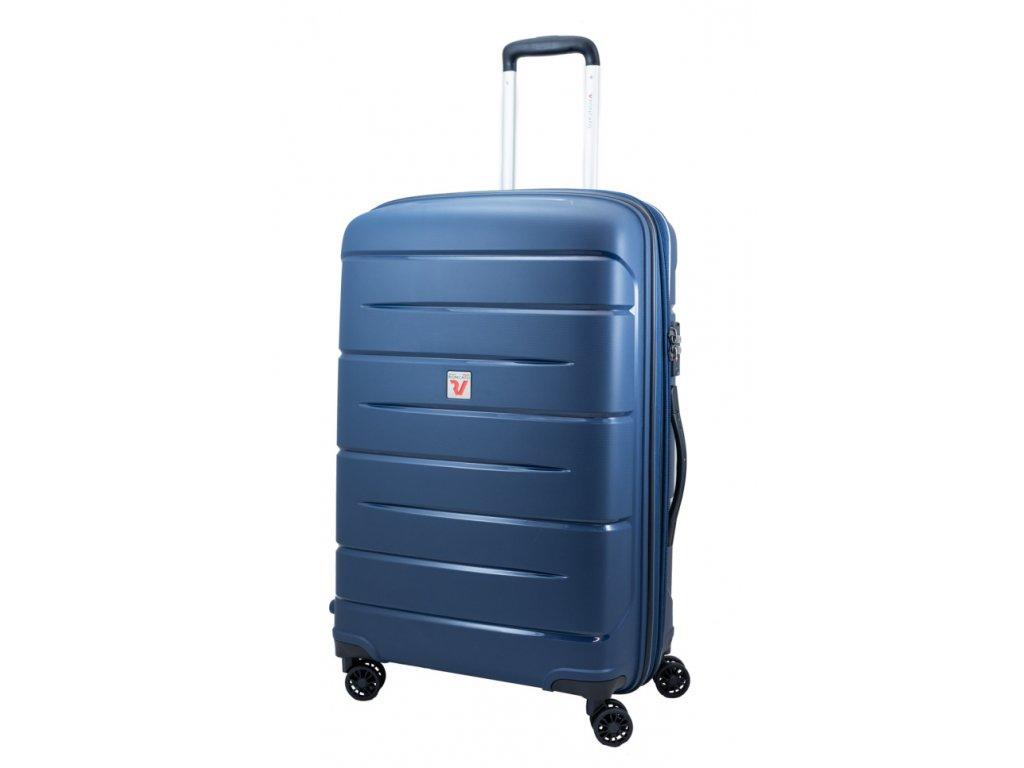 176026 13 cestovni kufr roncato flight dlx m tmave modra