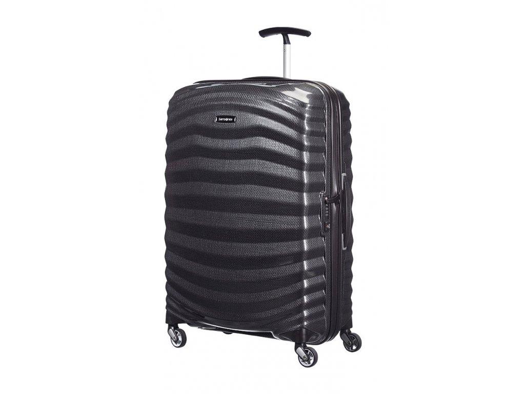 174955 8 cestovni kufr samsonite lite shock 4w m cerna