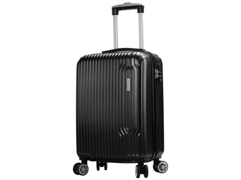 173365 8 cestovni kufr snowball 4w abs s cerna