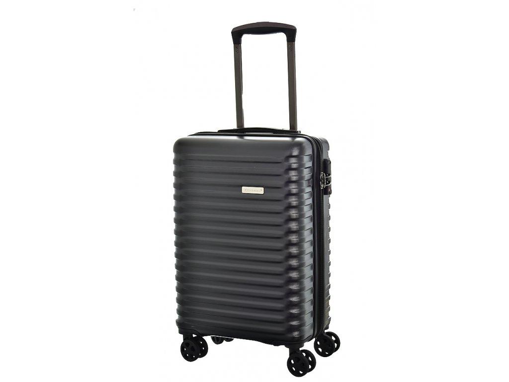 173587 7 cestovni kufr snowball 4w abs s cerna