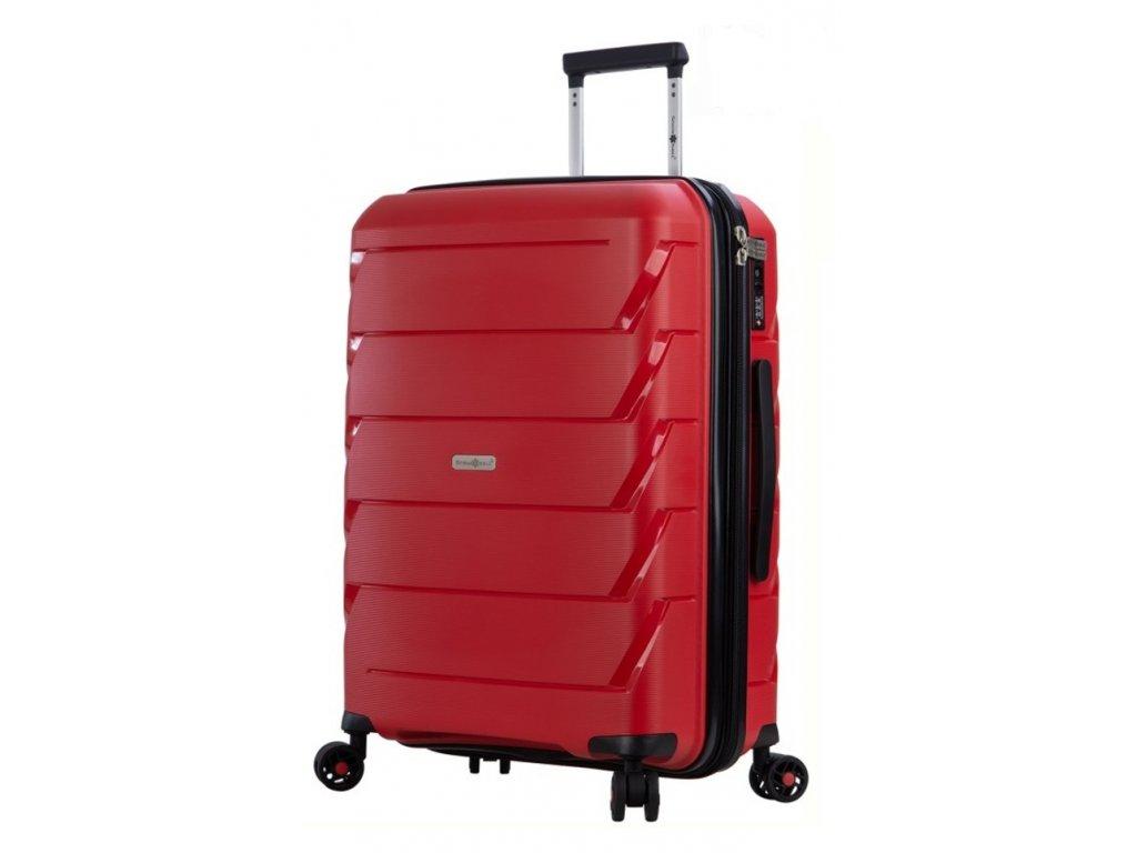 176563 7 cestovni kufr snowball 4w l cervena