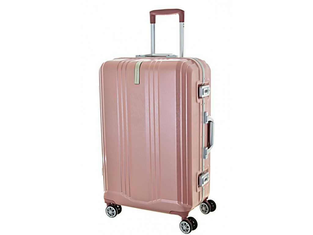 189700 cestovni kufr snowball pc 4w m lock pink