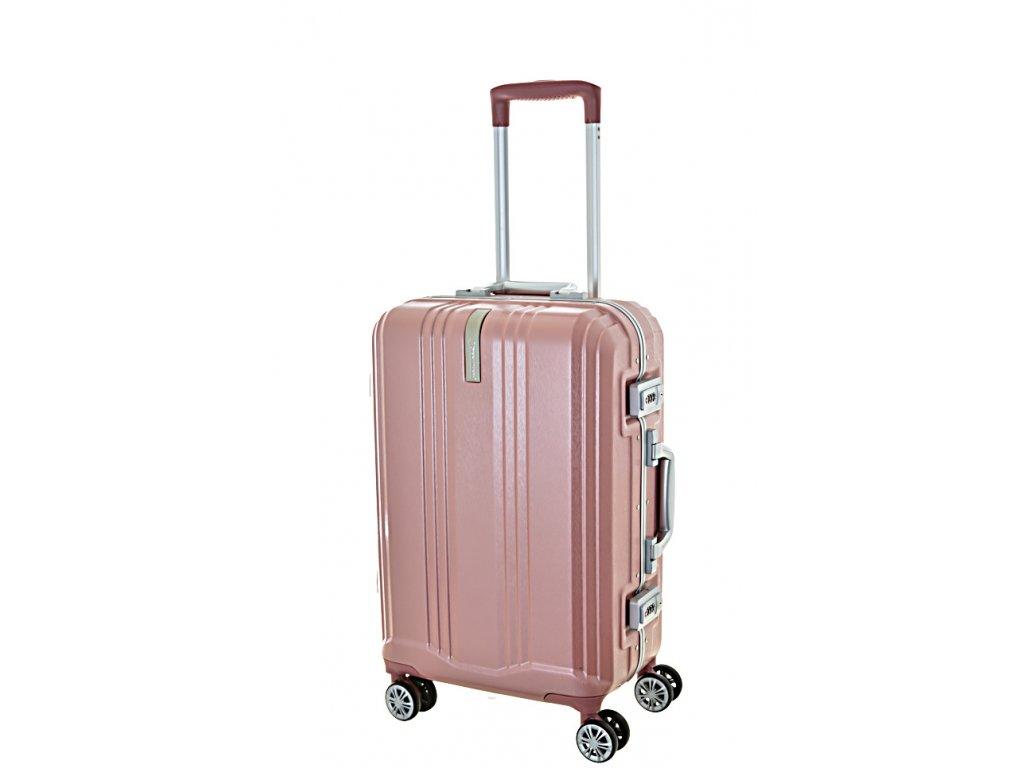 168709 8 cestovni kufr snowball pc 4w s lock pink