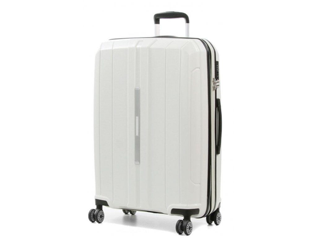 168691 7 cestovni kufr snowball pp 4w m white
