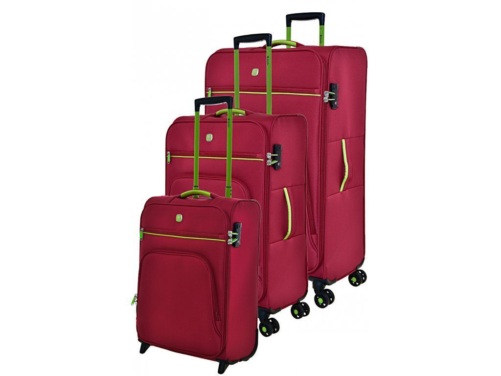 170698 1 cestovni kufry set 3ks dielle s m l red