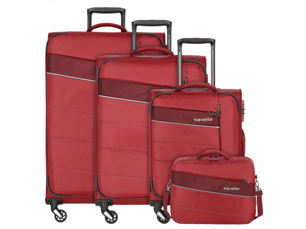 173656 1 cestovni kufry set 4ks travelite kite s m l b cervena