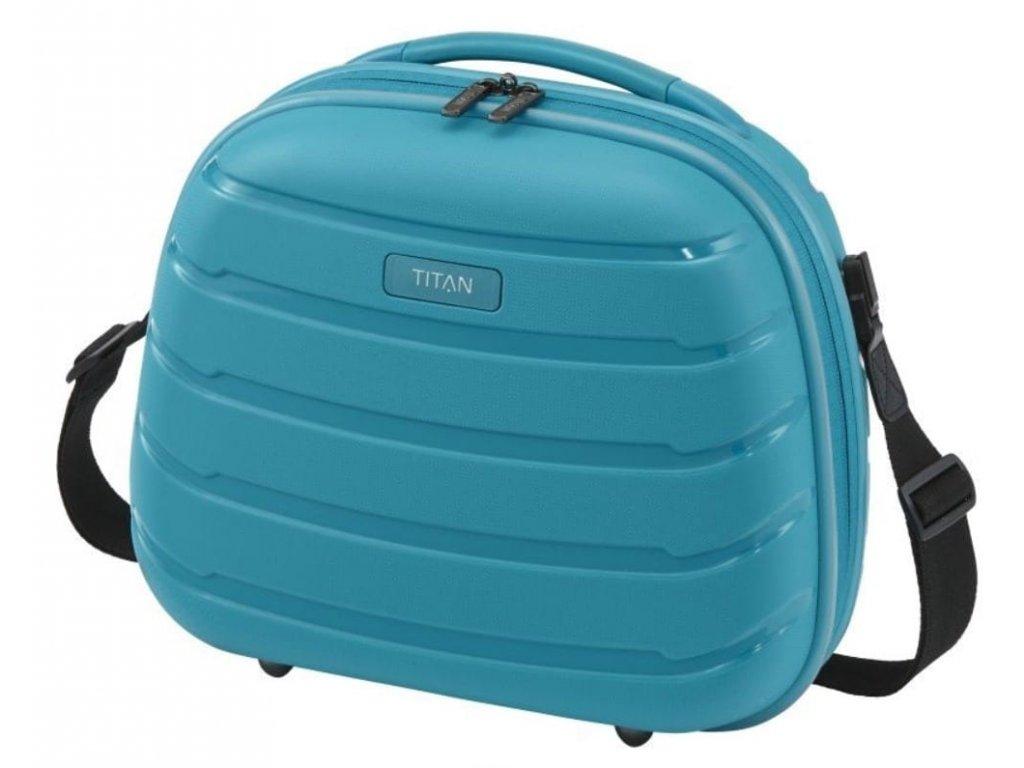 187765 kosmeticky kufr titan limit aqua blue
