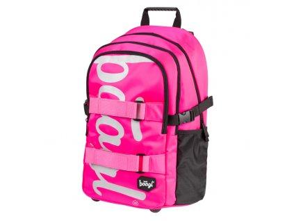 173923 8 baagl skolni batoh skate pink ruzova