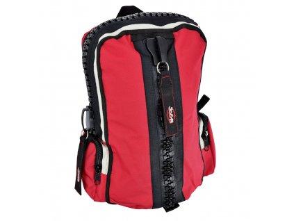 165685 3 batoh zipper cervena