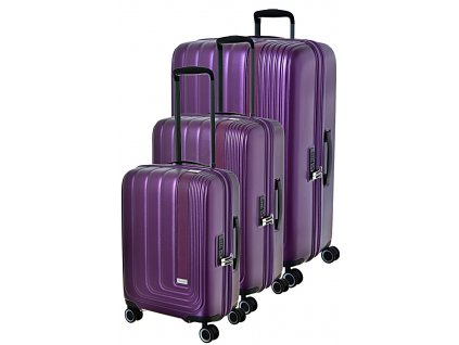 190879 cestovni kufry set 3ks march beau monde s m l purple