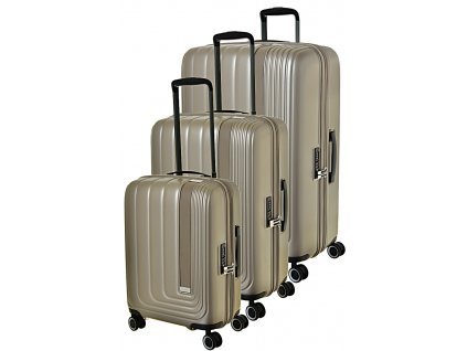 171007 1 cestovni kufry set 3ks march beau monde s m l silver bronze