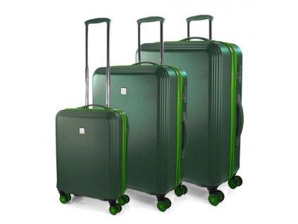 170800 1 cestovni kufry set 3ks modo sunny s m l dark green