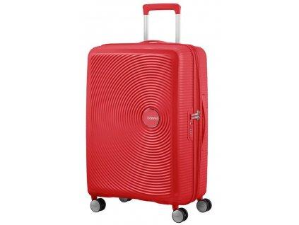 174880 12 cestovni kufr american tourister sound box m exp cervena