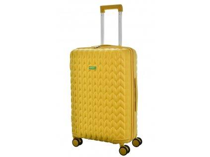 173488 7 cestovni kufr benetton knit 4w m zluta