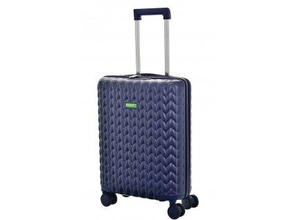 173473 7 cestovni kufr benetton knit 4w s tmave modra