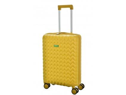 173476 7 cestovni kufr benetton knit 4w s zluta