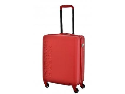173497 7 cestovni kufr benetton ucb 4w s cervena