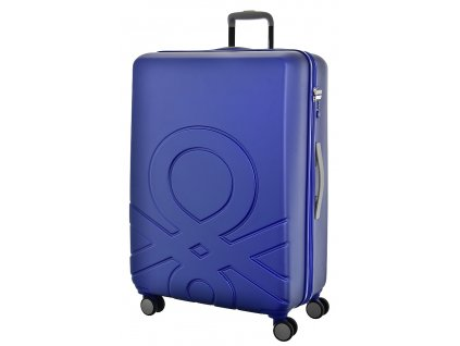 173557 6 cestovni kufr benetton ultra logo l modra