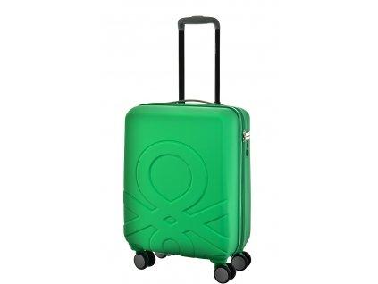173527 6 cestovni kufr benetton ultra logo s zelena