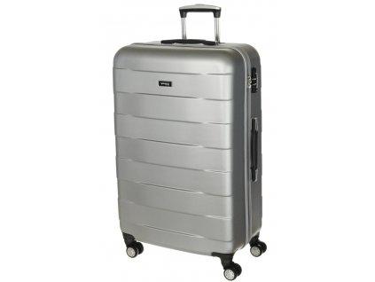 163795 9 cestovni kufr march bumper l silver