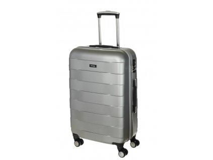 163777 9 cestovni kufr march bumper m silver